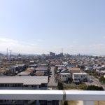 ルーフバルコニー南西方向の眺望。