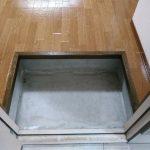 左側にキッチンとの仕切り替わりの下駄箱を置いたらイイかも。